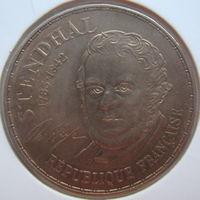 Франция 10 франков 1983 г. 200 лет со дня рождения Стендаля (g)