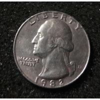 США, 25 центов 1982 P
