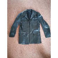 Кожаный ретро пиджак