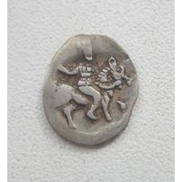 R. Иван IV Грозный - Деньга (ГосподарЬ) регулярный выпуск м.д.Тверь до 1547 года. Номер 65