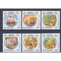 [1828] Сент-Винсент 1988. Парусники,корабли.Колумб. MH