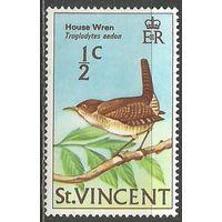 Сент-Винсент. Птицы. Домовой крапивник. 1970г. Mi#258.