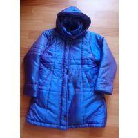 Пальто детское синее деми еврозима с сиреневым отливом