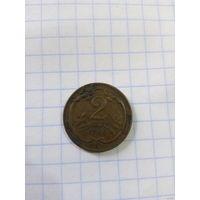 Австро-Венгрия 2 геллера 1908 год