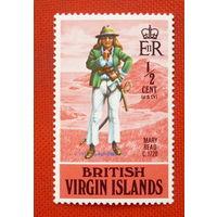 Британские Виргинские острова.  ( 1 марка ).