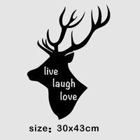НАКЛЕЙКА ОБЪЁМНАЯ НА СТЕНУ LIVE LOVE LAUGH