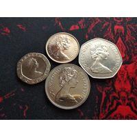 5,10,20,50 пенсов 1983 года Великобритании 30 лет правления Елизаветы II (4 монеты) 33