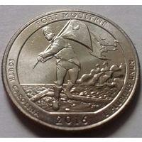 25 центов, квотер США, форт Молтри (штат Южная Каролина), P