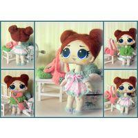 Кукла ЛОЛ, текстильная игровая кукла ручной работы