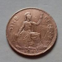 1 пенни, Великобритания 1945 г., Георг VI