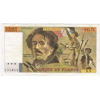 Франция 100 франков 1978.  серия N9 134815