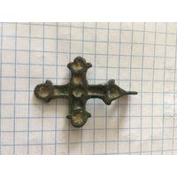 Нательный крестик КР выемчатые эмали