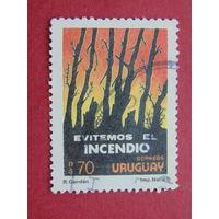 Уругвай 1989г. Защита природы.