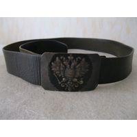 Ремень кожаный с пряжкой военнослужащего Русской императорской армии.