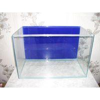 Продам аквариум 80 литров. Новый. Банка. Задний фон - синего цвета.