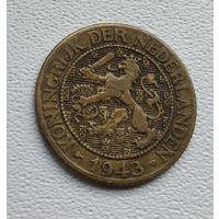 Суринам 1 цент, 1943 Латунь 1-15-11