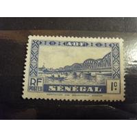 Французcкая колония Сенегал лодка флот чистая без клея без дыр(5-9)