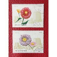 Корея.1976.Флора.2 марки