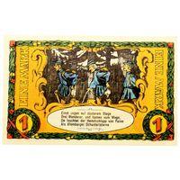РАСПРОДАЖА!!! - ГЕРМАНИЯ БЛОМБЕРГ (ЛИППЕ,Северный РЕЙН-ВЕСТФАЛИЯ) 1 марка 1921 год - РЕДКАЯ! - UNC!