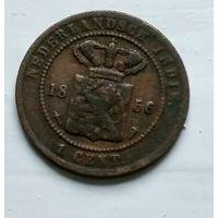 Голландская Ост-Индия 1 цент, 1856 2-8-7