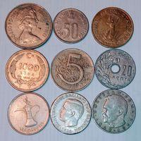 Монеты разных стран мира с рубля , лот 1.