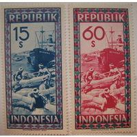 Марки Индонезия. Корабли