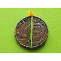 Бразилия. 5 сентаво 2002. Монета - клондайк браков (см. описание).