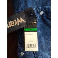 Рубашка джинсовая WRANGLER - классика, размер L USA (=XL европа)