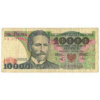 10000 злотых 1988, серия СВ, Польша