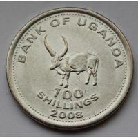 Уганда, 100 шиллингов 2008 г. (Магнитная)