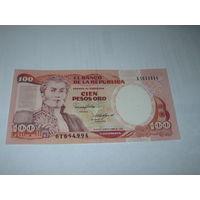 Колумбия - 100 песо - 1988 г.