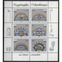 Германия, ГДР 1986 г. Mi#3057-3062KB** чистый малый лист (MNH)