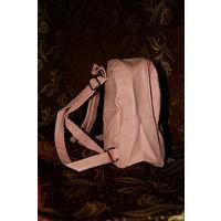 Рюкзак для девочки розовый + собака в подарок