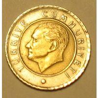 50 курушей 2002 Турция (биметалл)