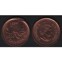 Канада _km490 1 цент 2006 год km490 не магнит ZnCu (-) (f31)