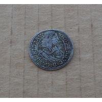 Тироль (графство), тирольская линия Габсбургов, эрцгерцог Сигизмунд Франц (1662-1665), 3 крейцера 1663 г., серебро
