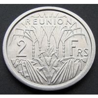 Реюньон.  2 франка 1948 год KM#8