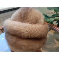 Шапка из меха норки размер 55-56 бу