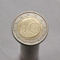 Германия 2 евро 2009 10 лет наличному обращению евро