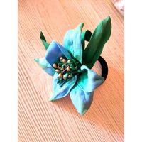 Голубая лилия- резинка д/вол, В НАЛИЧИИ