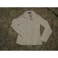 Блузка школьная новая белая р.32