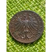 Германия Франкфурт ( на Майне ) 1 Геллер 1857 г