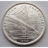 Португалия, 20 эскудо, 1966, серебро