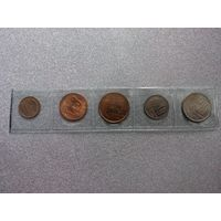Набор из 5 монет Болгарии 50-х годов