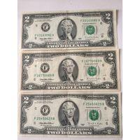 2 доллара США 1995 года, 3 банкноты