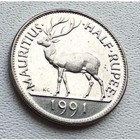 Маврикий 1/2 рупии, 1991 1-4-35