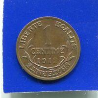 Франция 1 сантим 1912