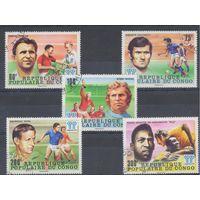 [762] Конго 1978.Спорт.Футбол.  Гашеная серия + блок.