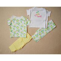 Пижамки майка и штанишки F&F 3-6 мес 2 шт 62-68 см