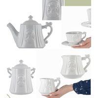 """Замнечательный набор Чашка , блюдце , чайник ,сливочник ,емкость для сыпучих продуктов RICH LINE Home Decor """"Медея"""" Нидерланды / Франция"""